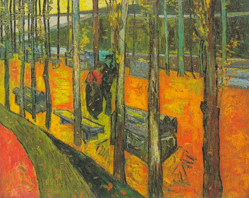 La diritta via, le tombe degli epicurei. Alyscamps di Van Gogh